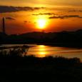 千種川下流の落日
